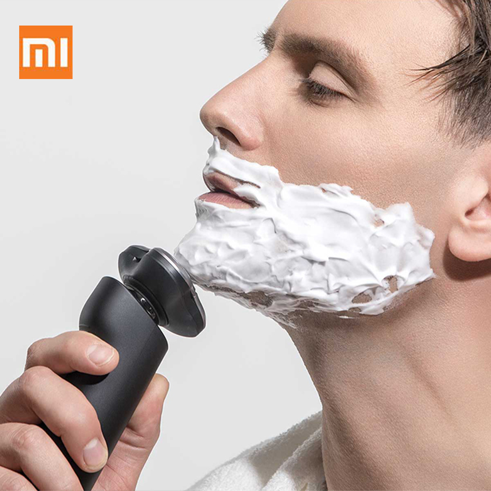 Xiaomi Mijia Electric Shaver 3 Head Flex Razor Dry Wet Shaving Washable Main Sub Dual Blade Turbo Mode Comfy Clean For Men