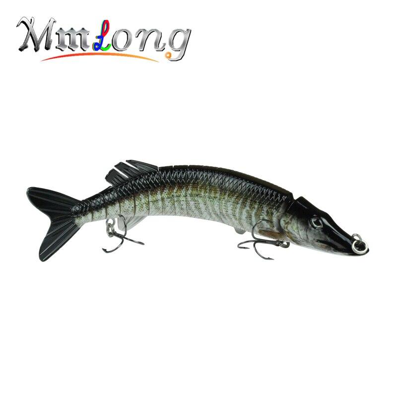 MMLong 2016 Nový velký umělý rybářský váleček s pomalým potopením Crankbait 13 segmentů Rybářský nástavec s živými nástrahami z tvrdé návnady MML-15B
