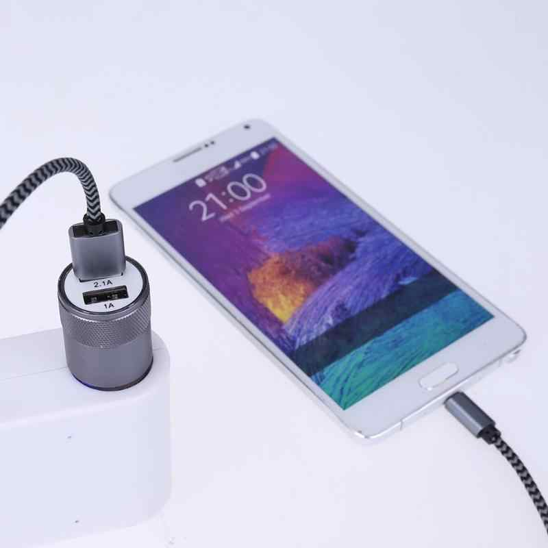 Metal Dual USB 5V 2.1A Car Cigarette Lighter Adapter Aluminium Alloy Charger Anti Scratch Car Charger For Phone new
