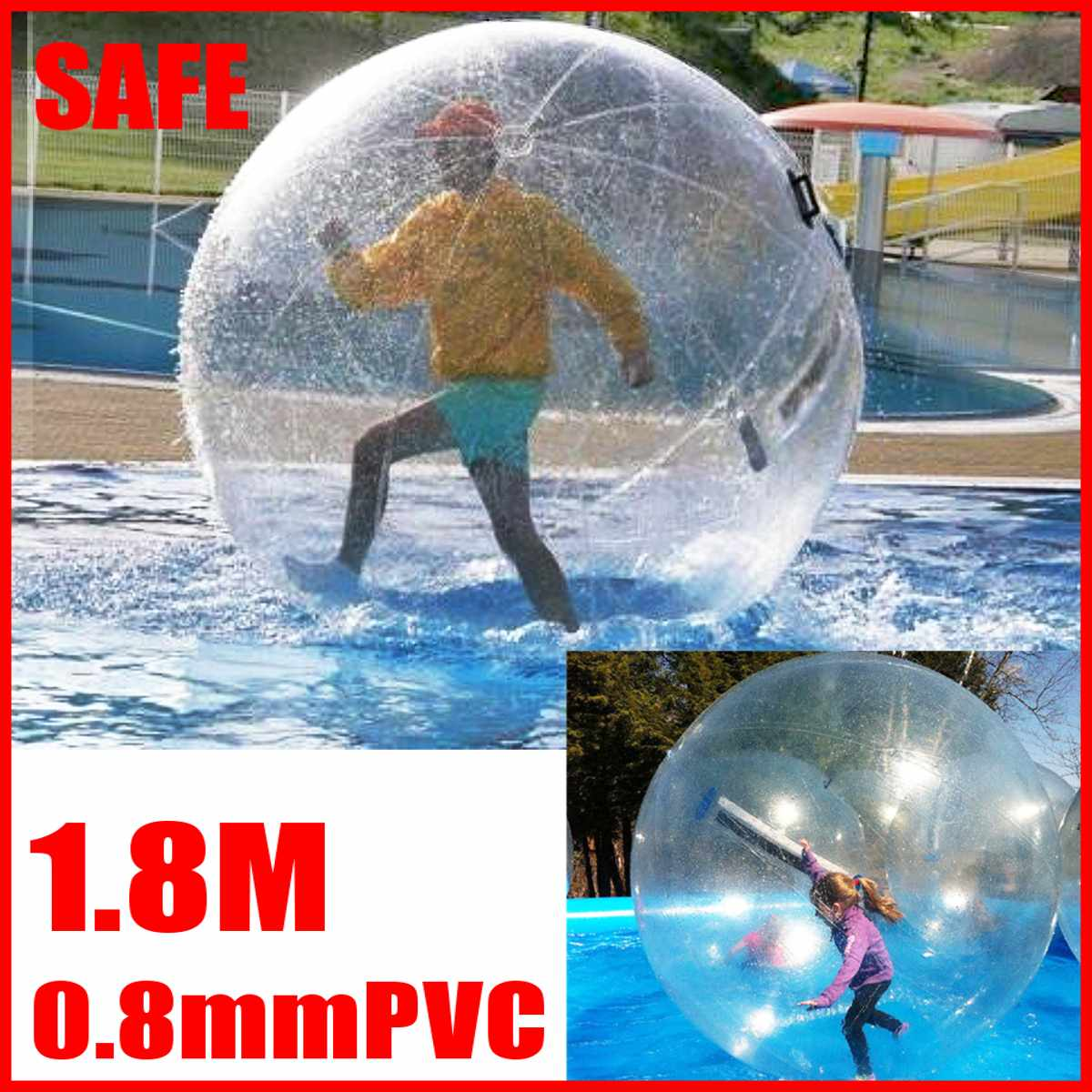 1.8m Outdoor Water Play Equipment PVC Inflatable Water Walking Ball Wear-resistant Water Toys Dance Ball with for Swimming Pool1.8m Outdoor Water Play Equipment PVC Inflatable Water Walking Ball Wear-resistant Water Toys Dance Ball with for Swimming Pool