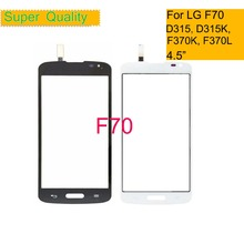 10Pcs/lot Touchscreen For LG F70 D315 D315K F370K F370L Touch Screen Touch Panel Sensor Digitizer Front Glass Outer Lens white outer front touch screen digitizer glass panel replacement for lg optimus f70 d315 with tools