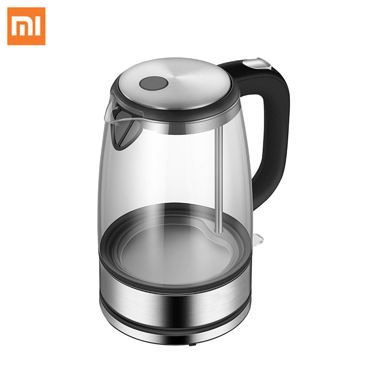 Xiaomi Glass Electric Water Kettle Stainless Steel Home Led Light Tea Pot 1 7l 220v Temperature