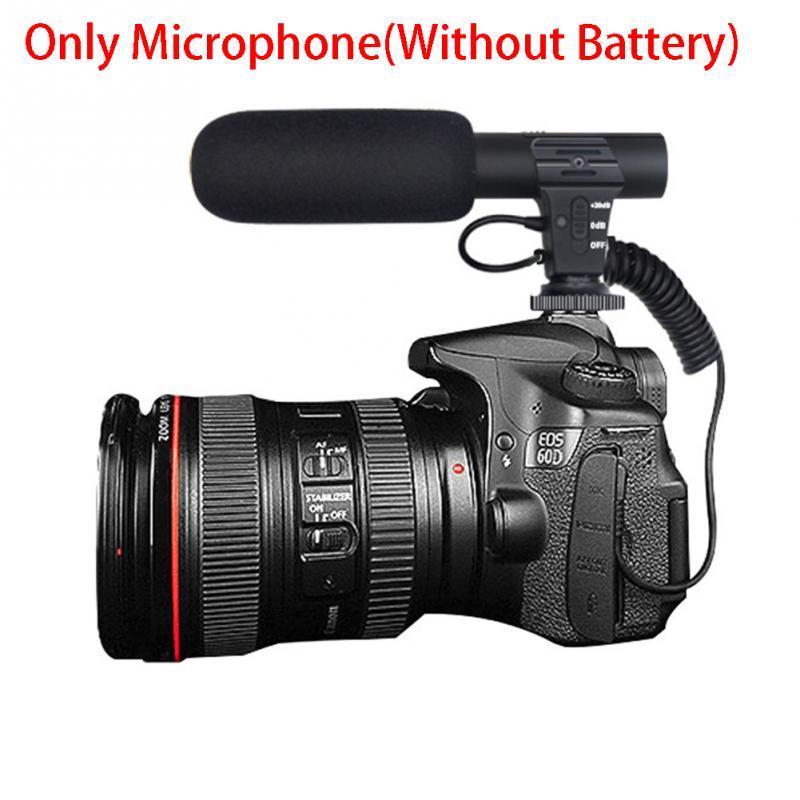 Stereo Camcorder Microphone For Nikon For Canon DSLR Camera Computer Mobile Phone Digital Video DV Camera Studio Stereo Mic  #
