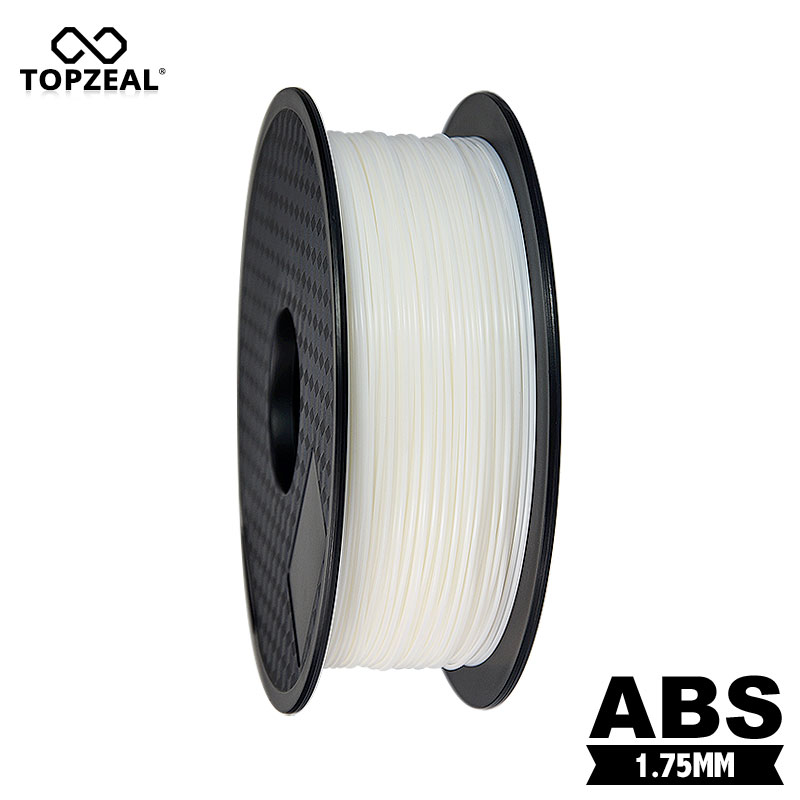 TOPZEAL White Color ABS Filament 1 75mm 1KG Roll Plastic Consumables Material for MakerBot RepRap Mendel