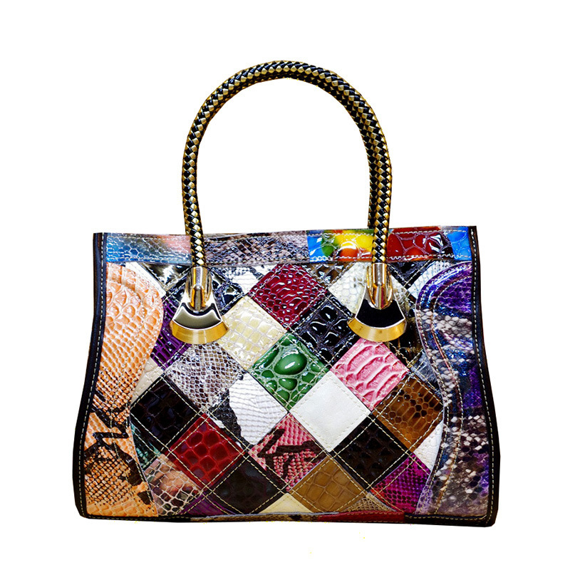 2019 Vintage Colour Hit Color Cowhide Genuine Leather Handbag Luxury Handbags Women Bags Designer Female Crossbody Shoulder Bag2019 Vintage Colour Hit Color Cowhide Genuine Leather Handbag Luxury Handbags Women Bags Designer Female Crossbody Shoulder Bag