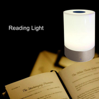 1pc Night Light White Light Portable RGB Color Changing Touchable Dimmable Night Lamp for Home Bedroom Indoor