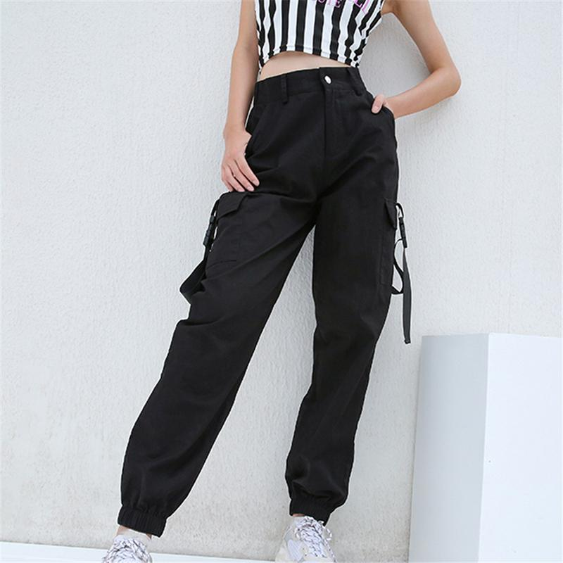 comfortable feel best shoes attractive colour US $17.7 32% OFF|HEYounGIRL Streetwear Cargo Pants Women Casual Joggers  Black High Waist Loose Female Trousers Korean Style Ladies Pants Capri-in  ...