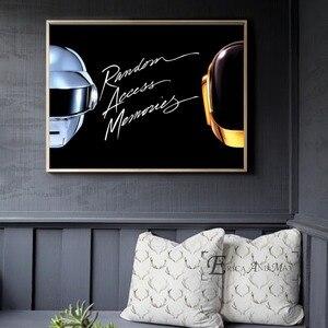 Daft Punk kask maska muzyka plakat i druk na płótnie malarstwo zdjęcia ścienny do dekoracji salonu wystrój domu bez oprawione