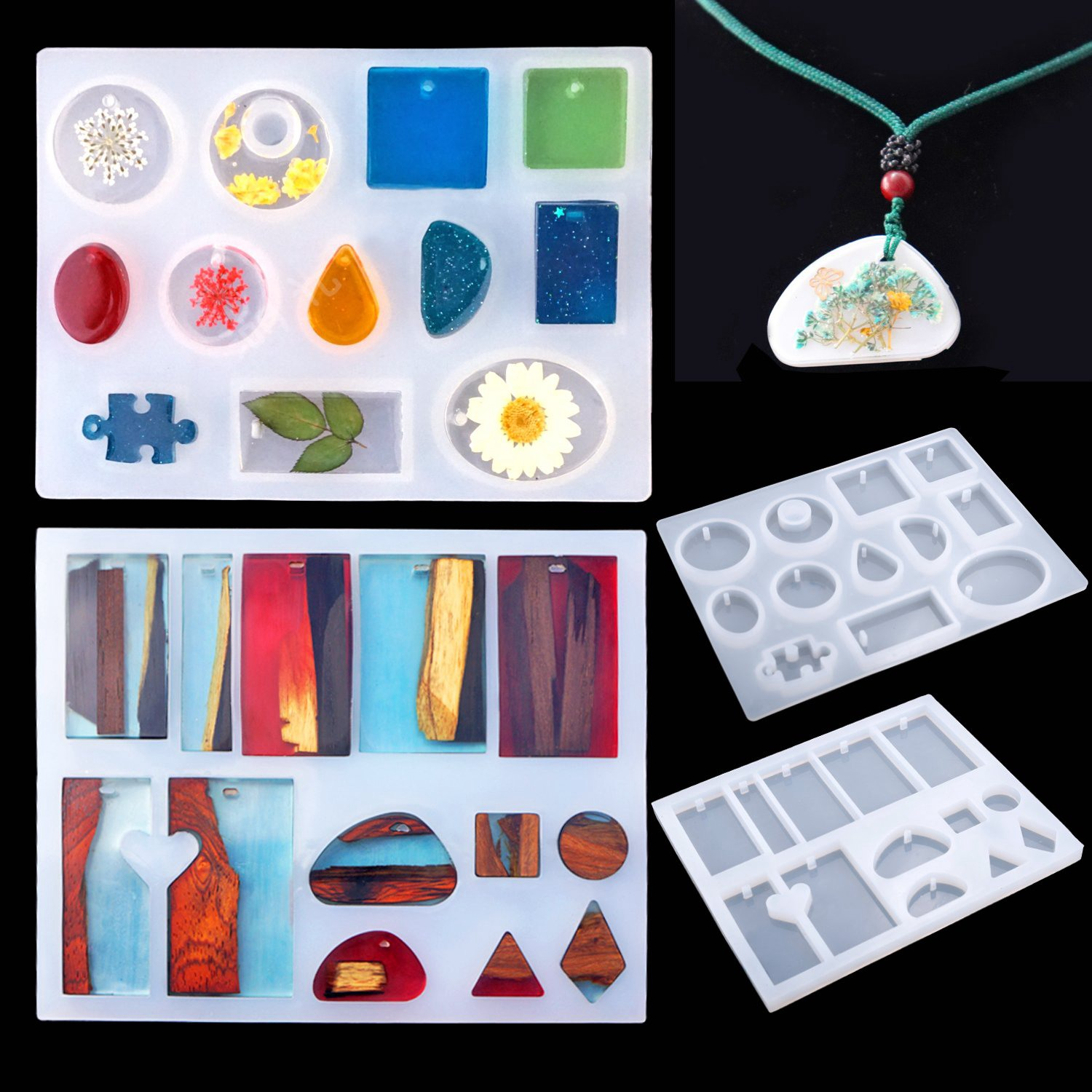 83 Pieces Silicone Casting Molds And Tools Set With A Black Storage Bag For Diy Jewelry