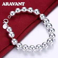 New Fashion 925 Silver Charm Bracelets For Women 10MM Bead Bracelet High Quality Jewelry цена 2017
