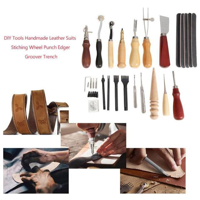 Profissional 59 Pcs M o Kit de Ferramentas Artesanais de Couro de Costura kit de Costura