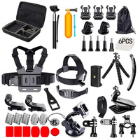 51 in 1 Acessories Bundle Sports Kit Combo for GoPro with Selfie Stick/Float Sponge/Handlebar Mount/Three Way Adjusting Arm More
