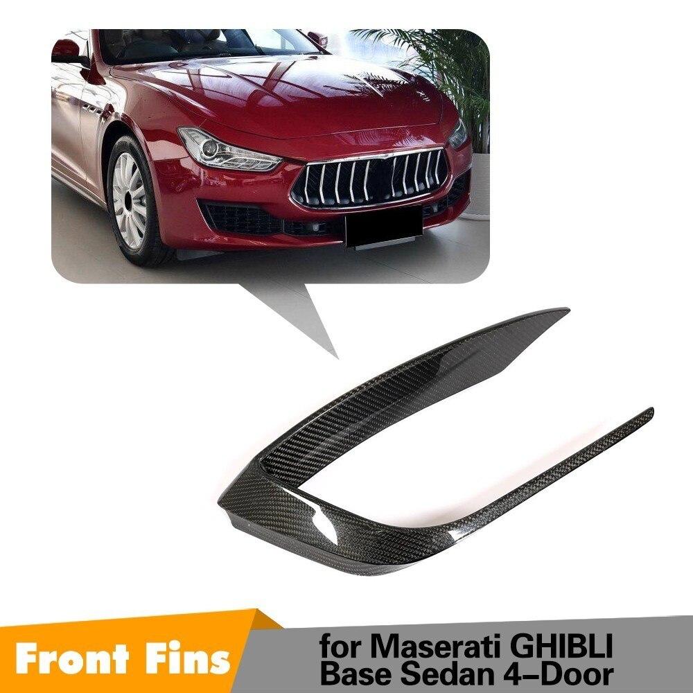 Fins For Maserati Ghibli 2018 Base Sedan 4 Door Carbon Fiber Front Front Bumper Parts