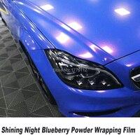 Высокое качество сияющая Ночная молотая черника винил с воздухом без пузырьков для автомобиля обертывание автомобиля для Элитный автомоби
