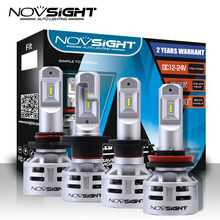 NOVSIGHT Plug & Play LED Headlights 9005 9006 H4 H7 H11 led With high quality CSP LED chips 60w 6500k Super Bright Light Bulbs(China)