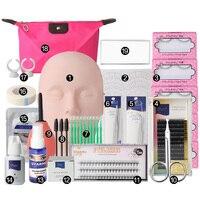 New Semi Permanent Individual Eyelash Extensions Curl Eye Lash Starter Makeup Kit
