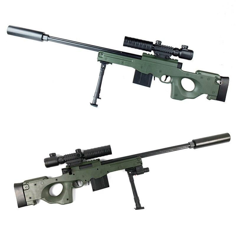 1 pc de plástico pistola de juguete francotirador realidad CS batalla Mini AWM PullType analógico quince espejo emisor de infrarrojos Rifle de asalto en directo acción