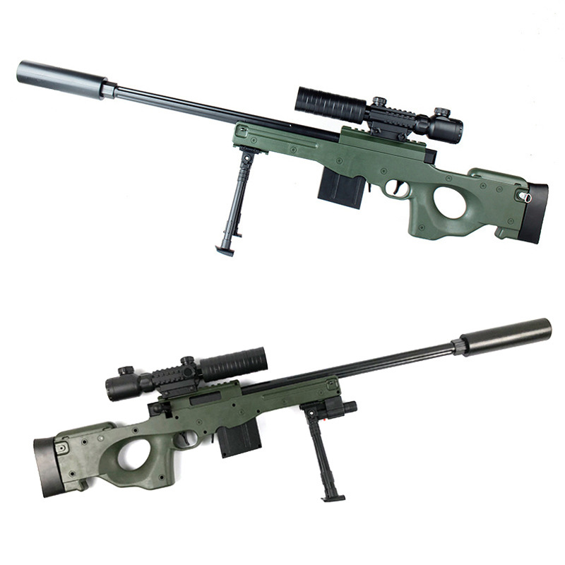 1 pc pistolet jouet en plastique Sniper Réalité CS Bataille Mini AWM PullType analogique quinze miroir émetteur infrarouge Fusil D'assaut L'action En Direct