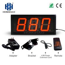 Siłownia interwalometr 4 INCH 3 cyfra LED zegar ścienny dzień zegar odliczający zegar cyfrowy i wilgotności rejestrator minutnik ledowy tanie tanio DIGITAL Zegary ścienne Metal Luminova JI3D-4R 2000g Plac 160mm 340mm White Red