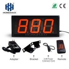 4 3 led wall clock alarm digital temperature and humidity recorder