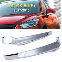 цена на Mayitr 2pcs ABS Plastic Chrome Side Door Rearview Mirror Cover Trim Strip For Mazda CX-5 CX5 17-18