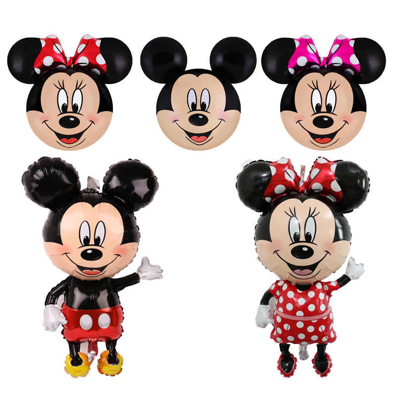 1pc 112cm large Mickey Minnie Mouse foil Ballon Cartoon Birthday Party decorations Kids Baby shower boy christmas decor for home