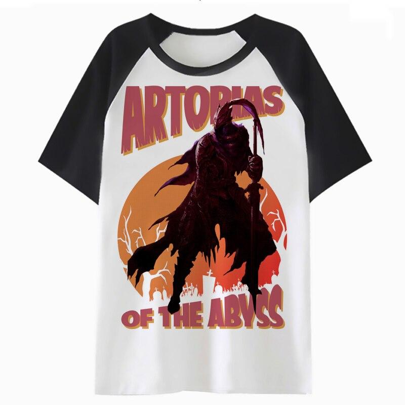 Artorias Of The Abyss t shirt streetwear tee men harajuku for clothing male funny top hip t-shirt hop tshirt PF2042