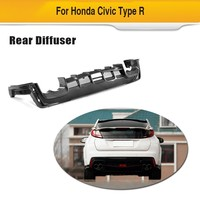 Rear Bumper Lip for Honda Civic Type R 2017 2018 Hatchback 4 Door Carbon Fiber Diffuser Apron Spoiler