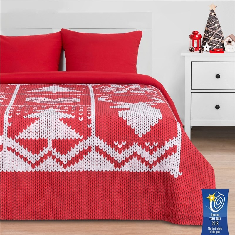 Bed Linen Ethel 2 CH Christmas knitted 175x215 cm, 200x220 cm, 70x70 cm-2 pcs, poplin a new 10 inch ch 1096a1 fpc276 v02 rx14 tx26 cm touch screen digitizer sensor replacement parts 236x167mm