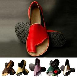 Couro feminino pé forma de correção plataforma sandália sapatos joint corrector cuidados com os pés alívio da dor casual verão sandália 4
