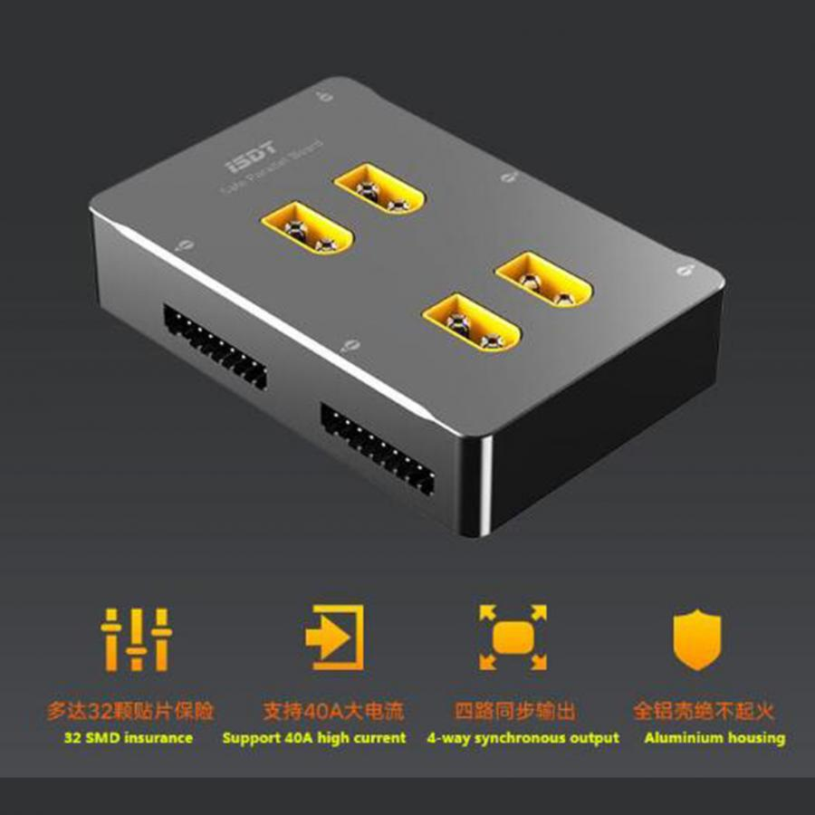 ISDT PC 4860 XT60 Parallel Charging Board CNC ประสิทธิภาพ 1 8 S ปลอดภัยบอร์ดแบบขนานแบตเตอรี่อัจฉริยะ Charger RC อุปกรณ์เสริม-ใน ชิ้นส่วนและอุปกรณ์เสริม จาก ของเล่นและงานอดิเรก บน   1