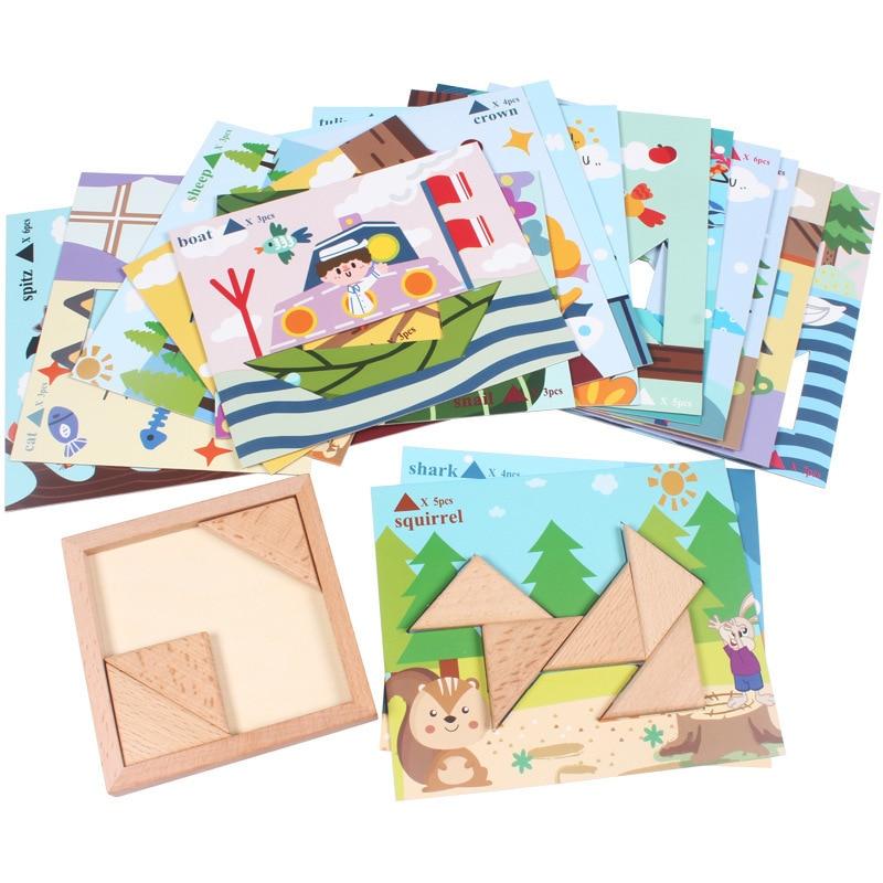 Puzzle en bois jouets pour enfants début jeu éducatif Montessori Oyuncak jouets pour garçons filles 49 - 3