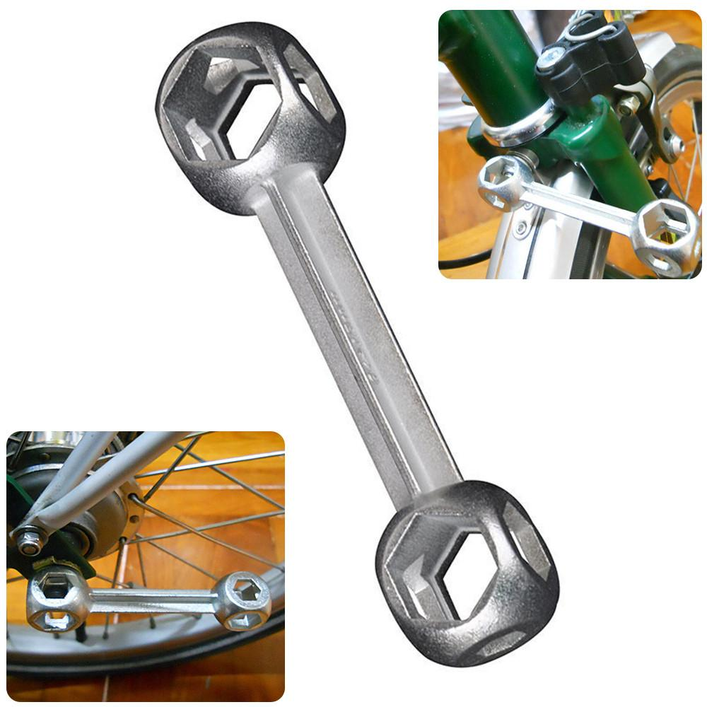 Multi-Purpose Bicycle Bike Cycling Wrench Stainless Steel Spanner Repair Tools
