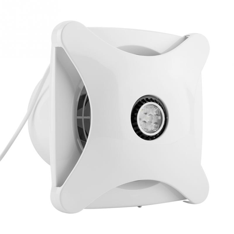 Us 37 65 43 Off 220v Ventilator Exhaust Fan Home Extractor Ventilating With Led Light Mount On Wall Bathroom Extractor De Aire Bathroom Fan In