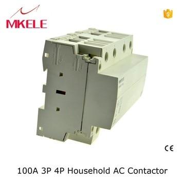 MKWCT-100 new model! high current 4no contactor 100a contactor din rail modular contactors 4p 100a contactor