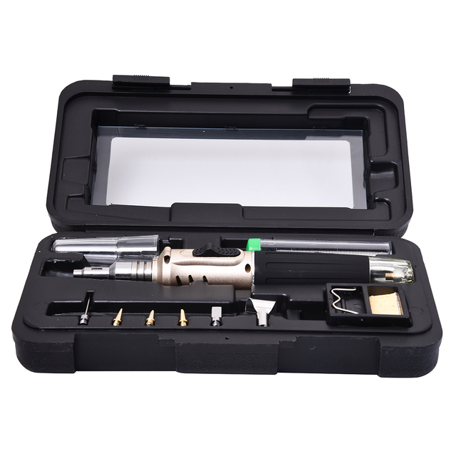 High Quality Plastic Portable HS 1115K Professional Butane Gas Soldering Iron Kit Welding Kit Torch