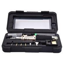 Hohe Qualität Kunststoff Tragbare HS 1115K Professionelle Butan Gas Lötkolben Kit Schweißen Kit Taschenlampe