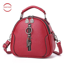 2019 Fashion High Quality Solid Pu Leather Women Bag Ladies Cross Body Messenger Shoulder Bags Vintage Handbags Kitten Ornaments women messenger vintage bags high quality cross body bag pu leather mini female solid shoulder bag handbags bolsas feminina