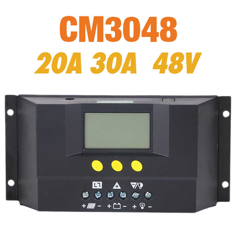 EASUN PWM 20A 30A Solar Panel Controller Regulator Charge Battery Protection 48V Auto Switch for PV System