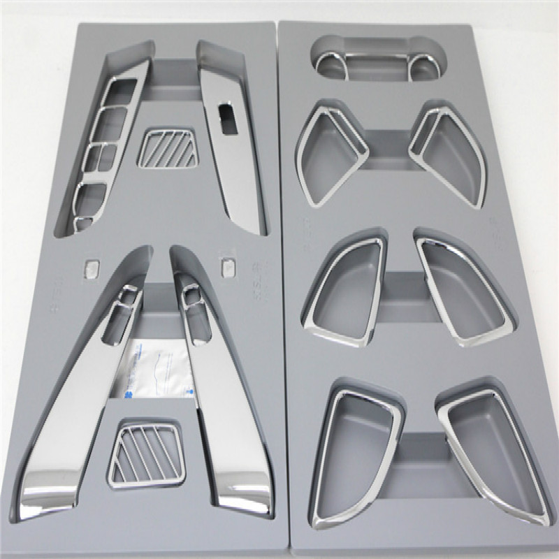 15pcs Abs Chrome Interior Trim Inner Molding Decoration Trim Car Auto Accessories For Hyundai IX35 2010 2011 2012 in Interior Mouldings from Automobiles Motorcycles
