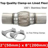 Exhaust Clamp-on Flexi Tube Joint Flexible Pipe Repair 50mm x 200mm