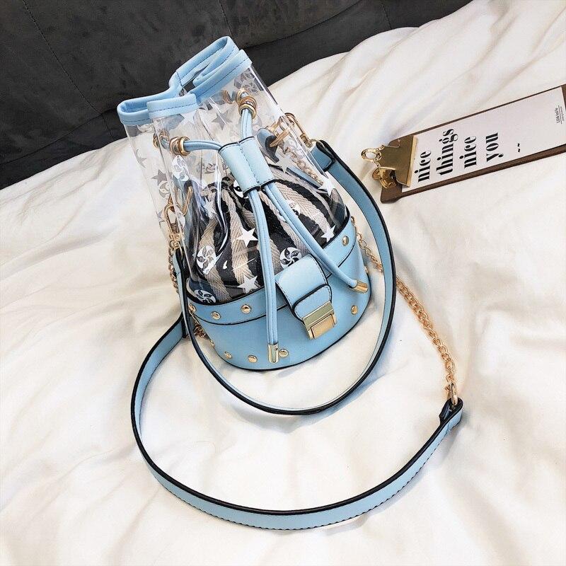 Messaggero Semplice Personalità Casual black Di Della Benna Femminile Silver Sacchetto Del Versione Modo pink Coreana Selvaggio Spalla Estate blue O1Hq00z