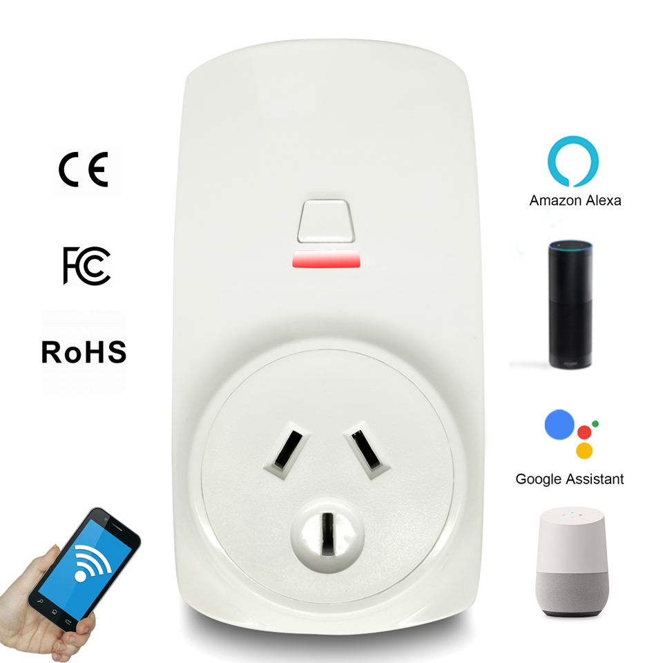 AU CN Wi-Fi Smart Plug Wifi Smart Socket Tuya Smart Life App Plug Adaptor  For Alexa Google Home Mini IFTTT