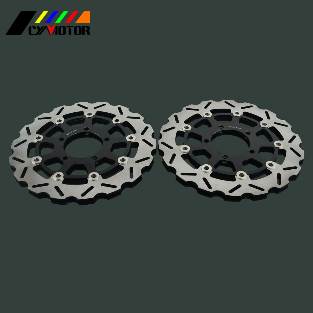 2PCS Motorcycle Floating Brake Discs Rotor For KAWASAKI NINJA ZX6RR ZX6R ER6F Z750 Z750R Z1000 Z1000SX ZX-10R VERSYS2PCS Motorcycle Floating Brake Discs Rotor For KAWASAKI NINJA ZX6RR ZX6R ER6F Z750 Z750R Z1000 Z1000SX ZX-10R VERSYS