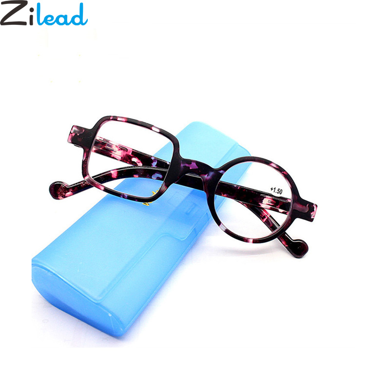 Zilead Retro Asymmetrical Round&Square Reading Glasses Women&Men Presbyopia Glasses Hyperopia Eyeglasses +1.0to+3.5 For Elder