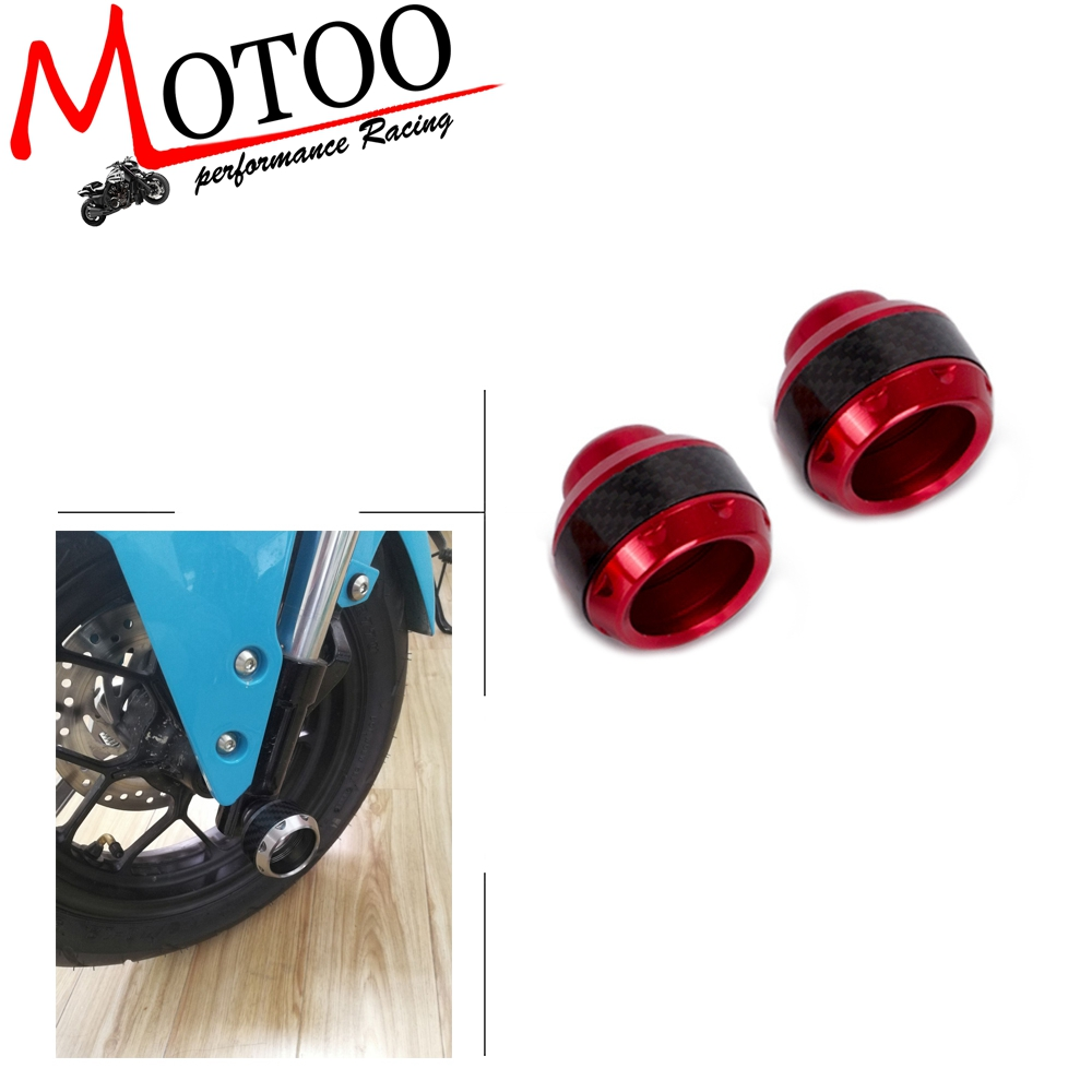 Frame Sliders-2pcs Universal Motorcycle Front Fork Frame Sliders Cup Collision Anti Crash Protector
