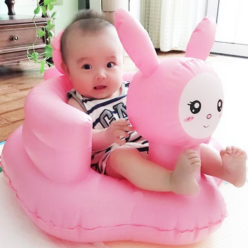 Розовый кролик детское Надувное сиденье для дивана для обучения сидя обеденное кресло портативный многофункциональный стул для ванной ПВХ игрушка