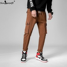 2019 Spring And Summer Men's Casual Sports Pants Men's Tooling Sports Pants Hip Hop Pants Street Trousers Running Pants Trousers