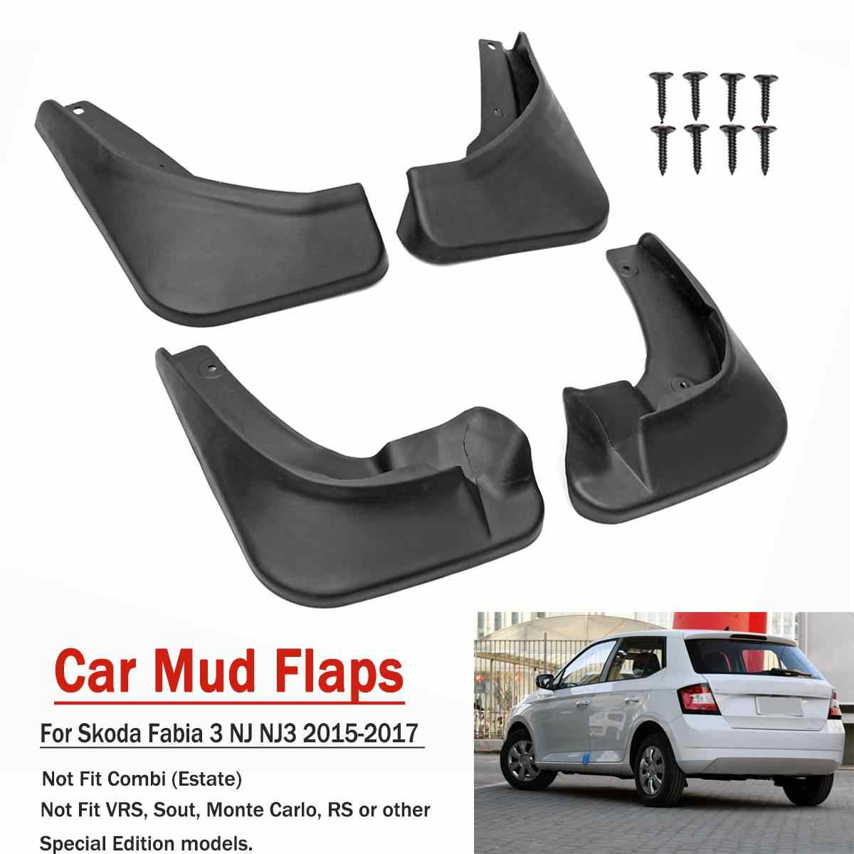 Car Front Rear Mud Flaps for Skoda Fabia 3 NJ NJ3 2015 2016 2017 Mudguards for Fender Splash Guards Accessories