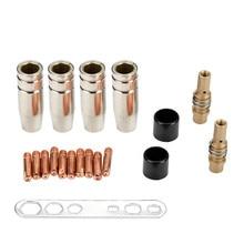 19Pcs Welding Nozzle New Contact Tip MB-15AK Argon Arc Welding 0.8mm Nozzle Contact Tip For 15AK MIG/MAG